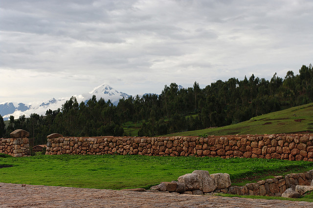 Countryside of Peru with Andes Mountains